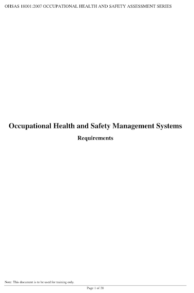 Sampul OHSAS 18001 Pdf Online Download