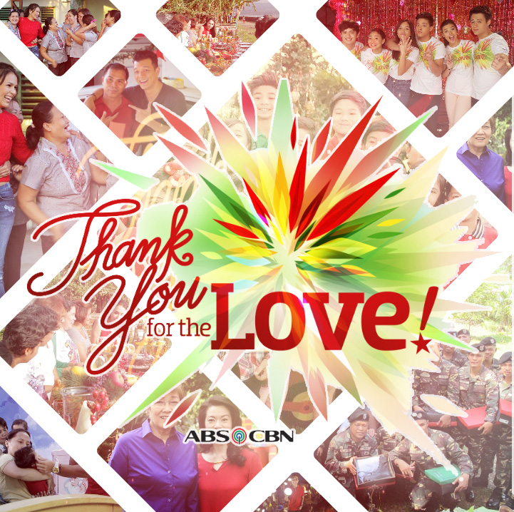 Thank You For The Love Christmas Station ID 2015 Abs-Cbn