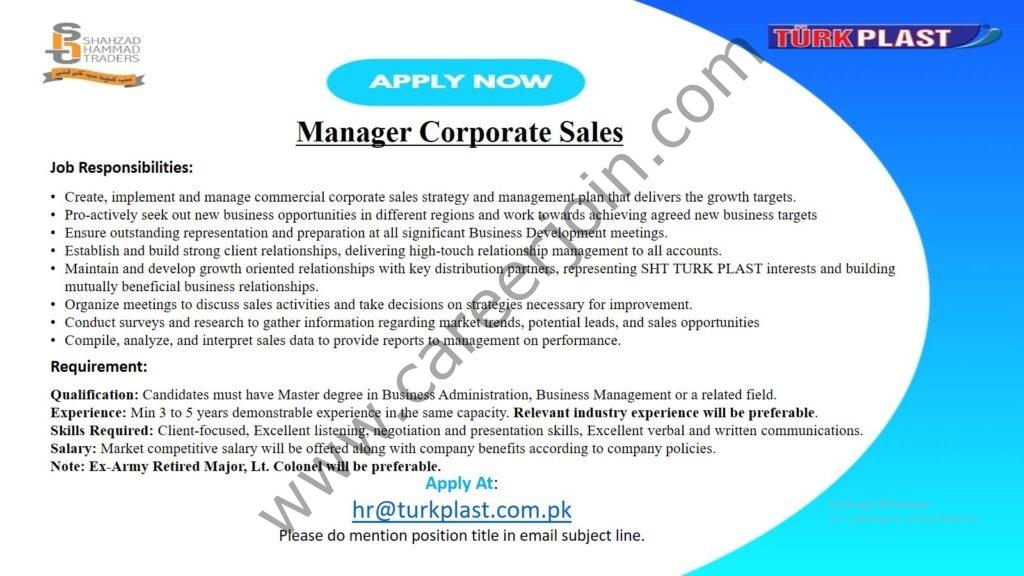 hr@turkplast.com.pk - Shahzad Hammad Traders Turk Plast Jobs  2021 in Pakistan