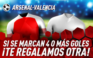 sportium promo Europa League Arsenal vs Valencia 2 mayo 2019