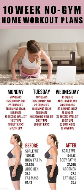The 10 Week No-Gym Home Workout Plans
