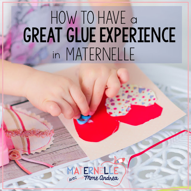 Glue in maternelle got you down? Guess what - it IS possible to have a great glue experience in maternelle, right from day 1! The secret? Glue sponges! Check out this blog post to see how they work! #maternelle #bricolage