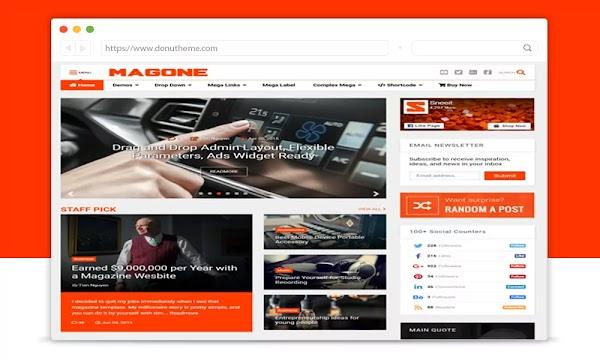MagOne v6.7.6 Responsive Blogger Template