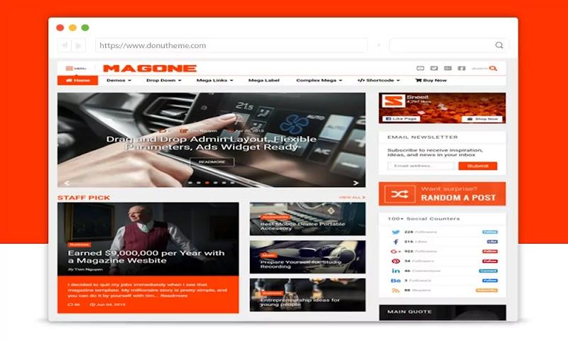 MagOne v6.7.6 Responsive Blogger Template - Responsive Blogger Template