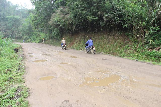 Quốc lộ 3C qua thị trấn Bằng Lũng, huyện Chợ Đồn, Bắc Kạn