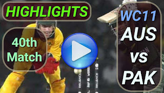 AUS vs PAK 40th Match