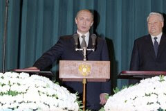 Russian President Vladimir Putin at the inauguration ceremony.