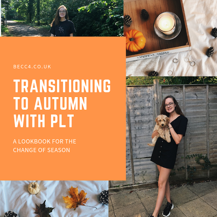 Transitioning to autumn with PLT. A lookbook for the change of season featuring midi skirts, sweatshirts, denim dresses and ankle boots