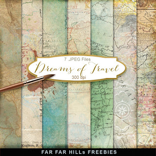 New Freebies Kit of Backgrounds - Dreams of Travel