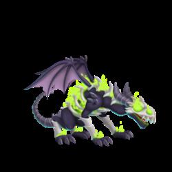 Apariencia del Dragón Destructor de Maldad de adolescente.