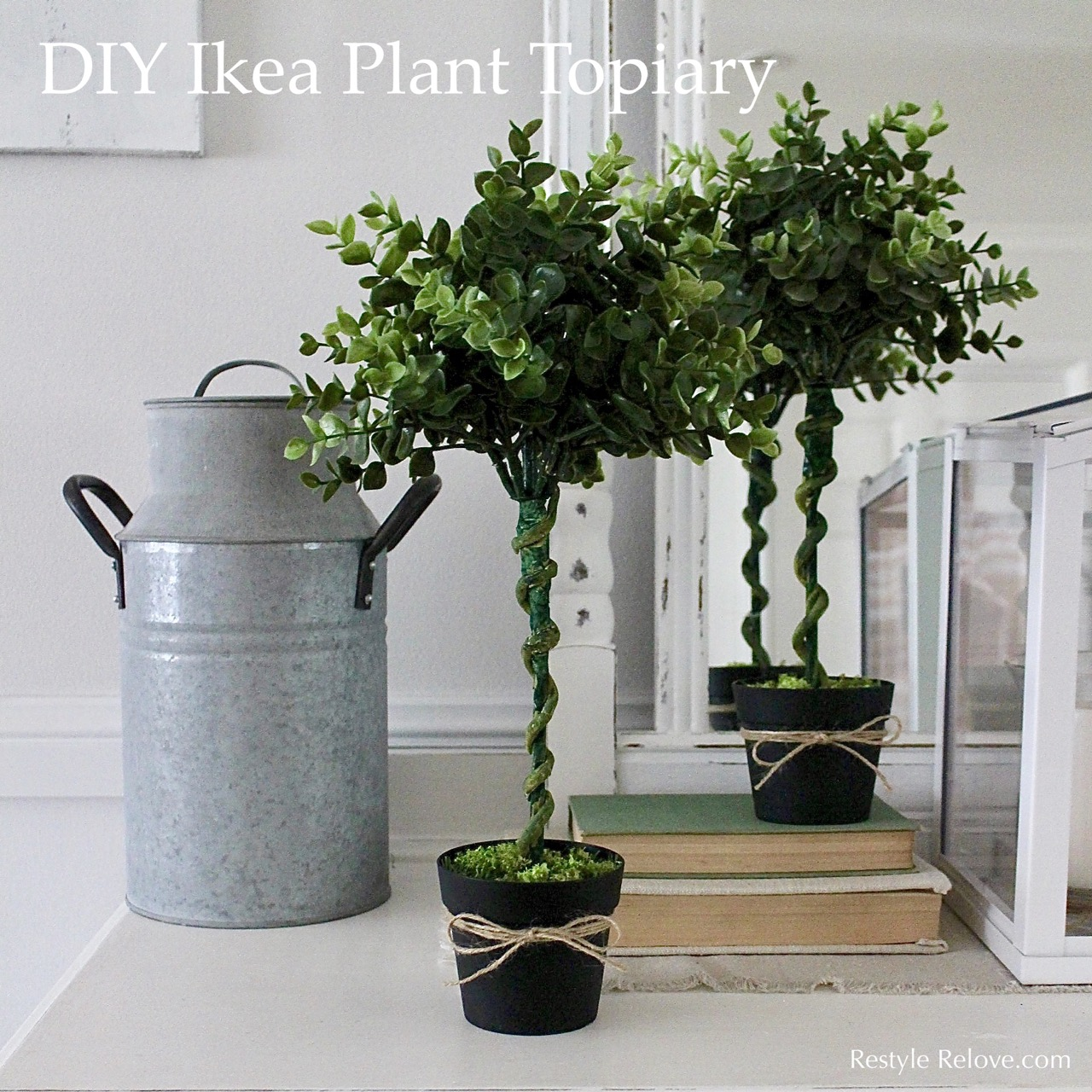 Ikea Artificial Trees: DIY Ikea Plant Topiary Tutorial