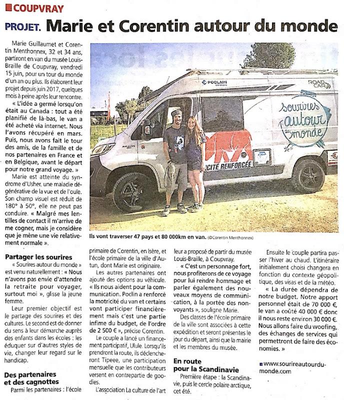 Article dans le journal La Marne