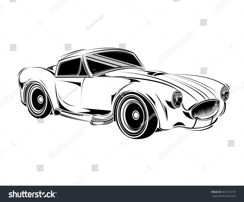 E Auto Schablone