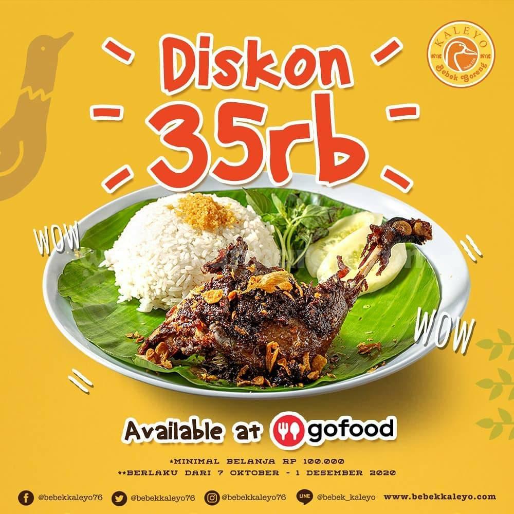 Promo BEBEK KALEYO Diskon Rp 35.000 Pemesanan via Gofood