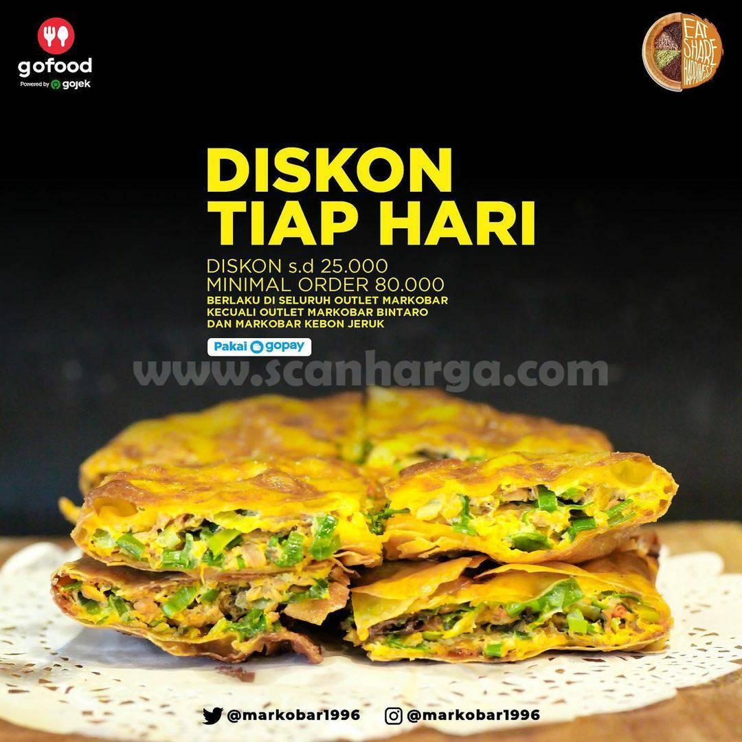 MARKOBAR Promo Diskon 25Rb Tiap Hari! Dengan GoPay & GoFood