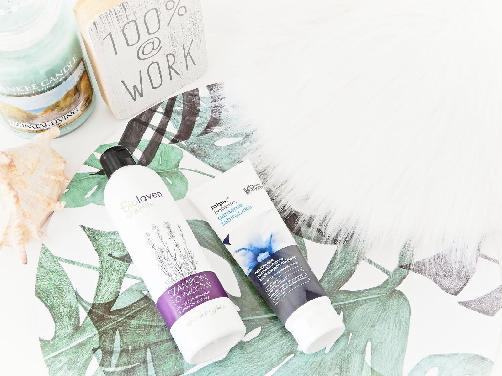 Wzmacniająco-wygładzający szampon Biolaven, Nawilżająca odżywka-maska zwiększająca objętość Gardenia Tahitańska, ulubieńcy, tołpa, szampon biolaven,