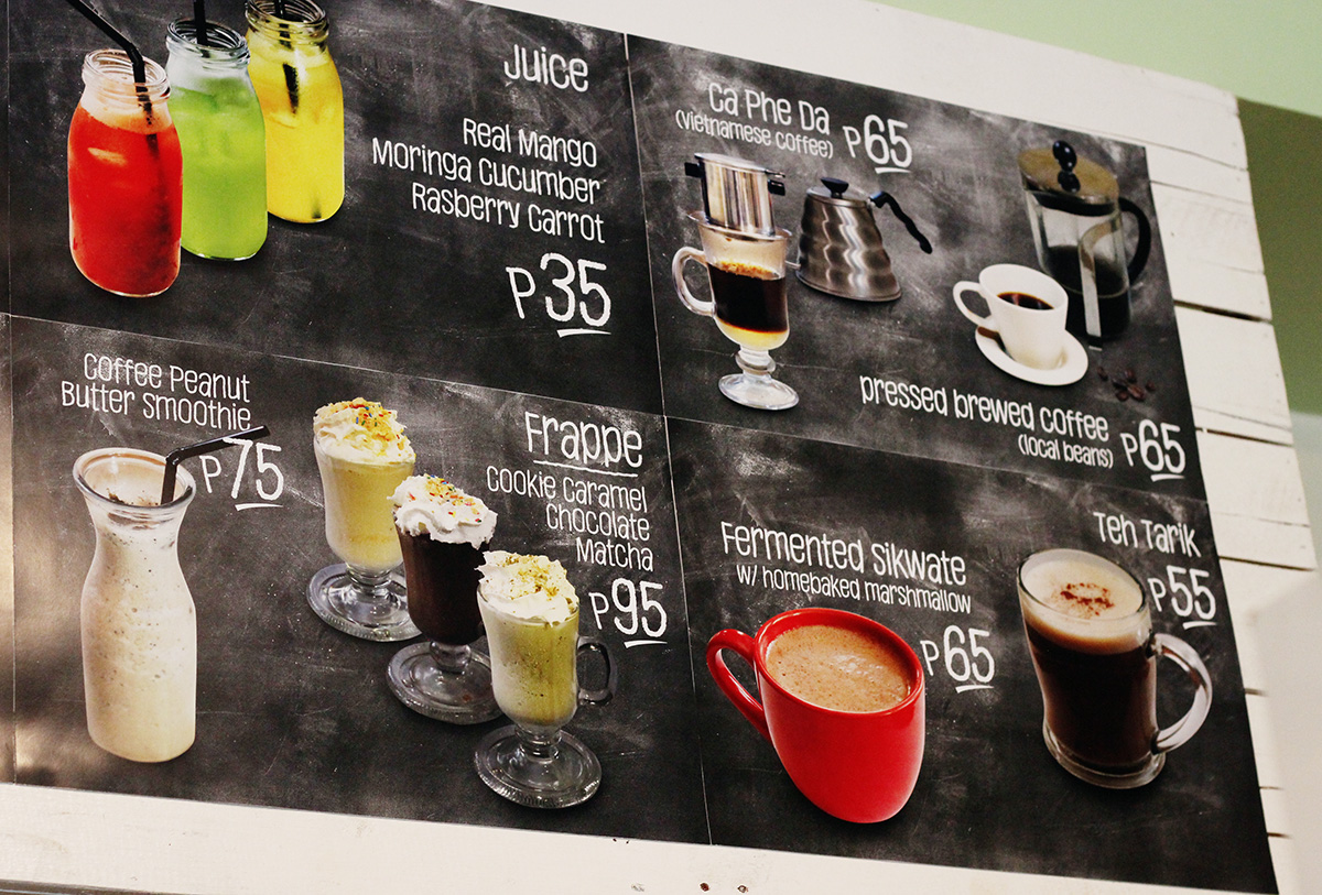 Coffee selection at Pinch Iligan