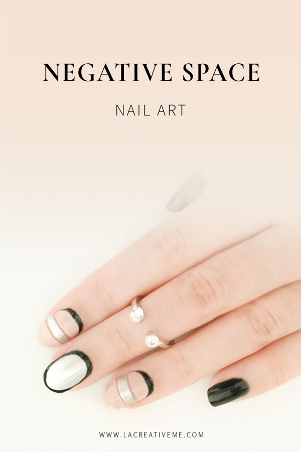 DIY Negative Space Nail art
