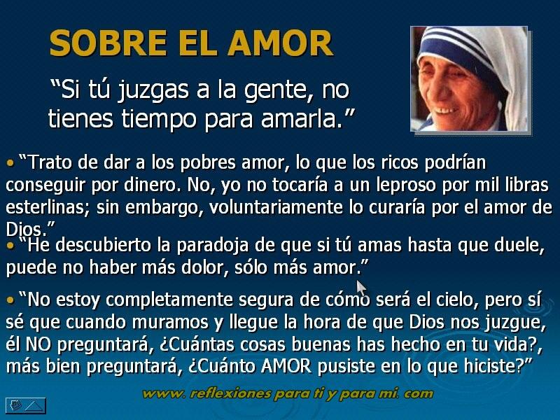 Reflexiones Para Ti Y Para Mi Madre Teresa De Calcuta Si Tu