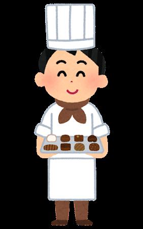 チョコレート屋さんのイラスト(男性)