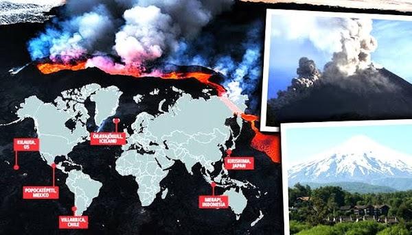 FOTOS:  volcanes siguen despertando en el planeta.