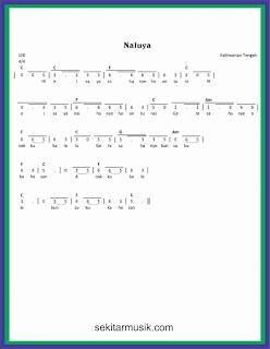 not angka naluya lagu daerah kalimantan tengah