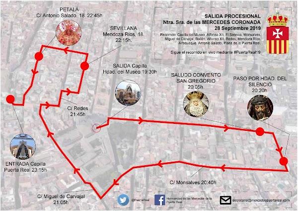 Puntos clave y horarios de la Procesión que realizará Nuestra Señora de las Mercedes Coronada hoy en Sevilla