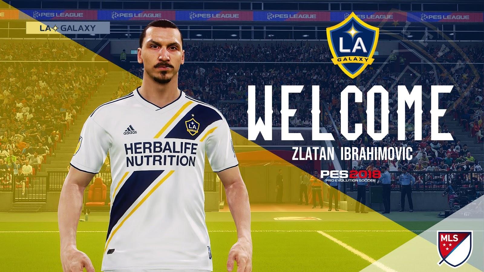 PES 17/18 Ibrahimović Start Screen (LA Galaxy) by Last Fiddler