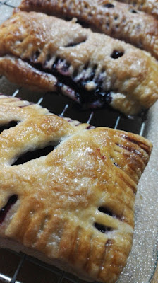 Individual Blueberry Pies made with Puff Pastry