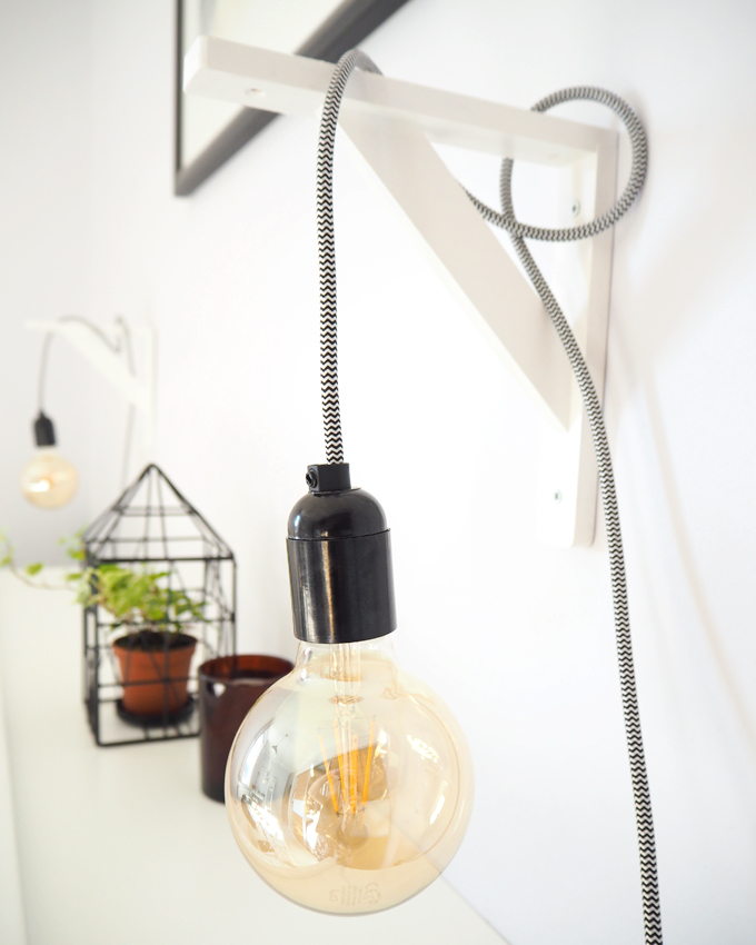 Diy Make Your Own Pendant Bedside Lamps Made Up Style