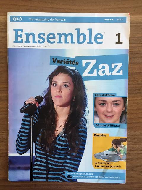 """""""Ensemble"""" - okładka czasopisma - Francuski przy kawie"""