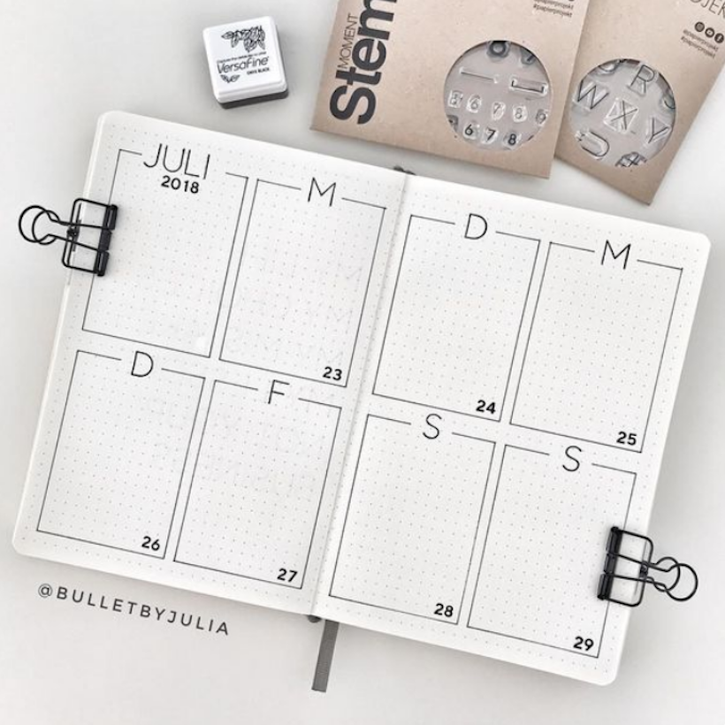 Contoh Bullet Journal Weekly Spreads 1