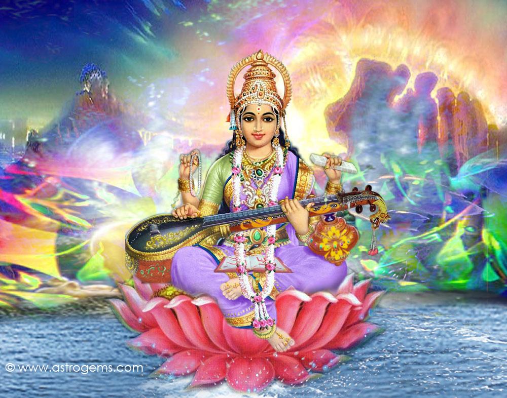 Hindu Gods Wallpaper For Desktop: Picture Collection: Hindu Goddess Saraswati Maa Wallpapers