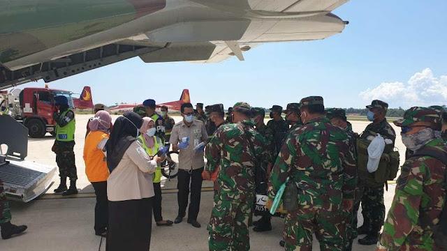 Tenaga medis RSKI Covid-19 Pulau Galang lakukan pergantian