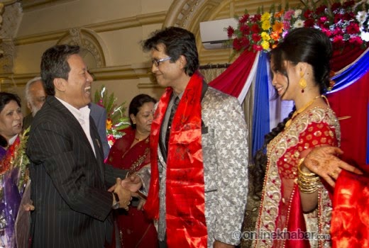 rajesh hamal and madhu bhattarai wedding