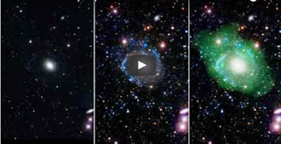 Watch Bizarre Giant Galaxy Discover  in Quiet Corner of the Space