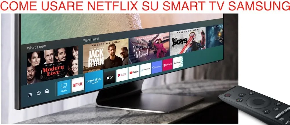 uso netflix su smart tv samsung