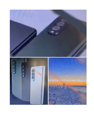 Galaxy Zfolf 3 and Zflip 3 leaked images with Samsung's new camera layout