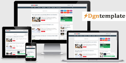 New Maggner Responsive Blogger Template-dgntemplate