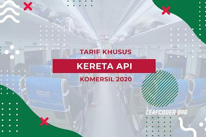 Info Terbaru Tarif Khusus Kereta Api April 2020