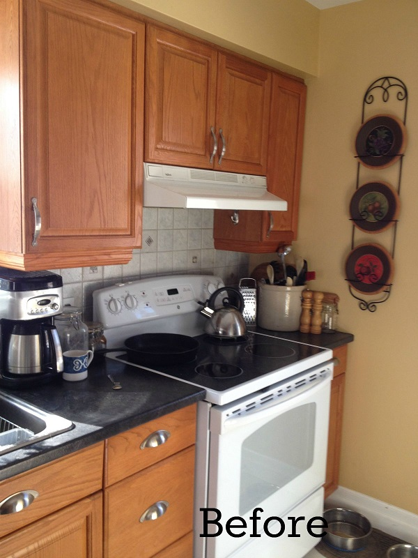 How to Cut a Cabinet for Over the Range Microwave (Our ...