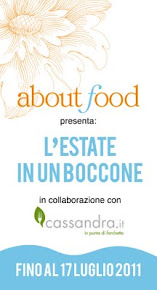 Partecipo al contest di about food in collaborazione con cassandra.it
