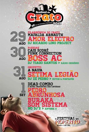 Festival do Crato 2012 - Cartaz, Programa, Datas, Preços e