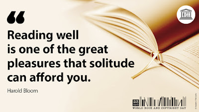 "Quote: Reading well is one of the great pleasures that solitude can afford you."" by Harold Bloom"