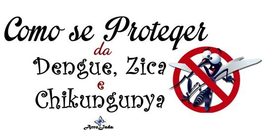 Como se proteger da Dengue, Zica e Chikungunha