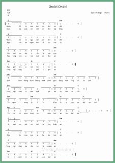 not angka lagu ondel ondel lagu daerah jakarta