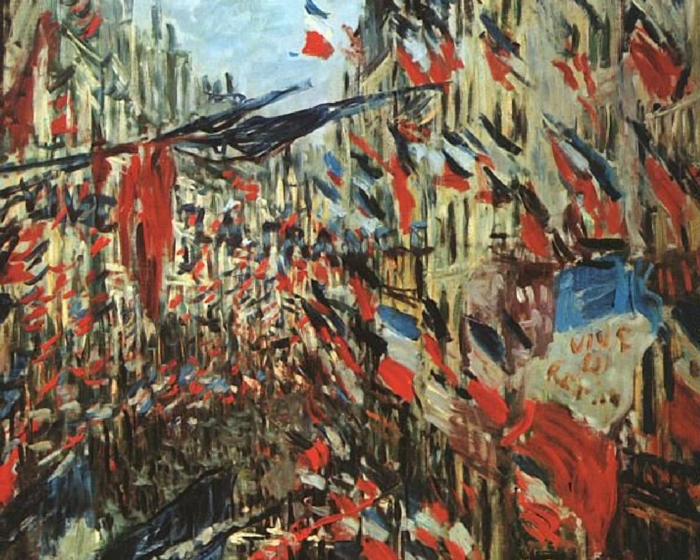 Claude Monet 1840-1926 - French painter - The Rue Montorgueil, Paris 1878 - The Impressionist Flags