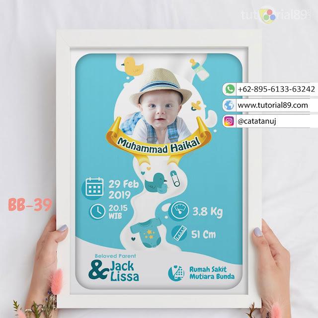 Biodata Bayi Costume Unik Kode BB39   Biru Putih
