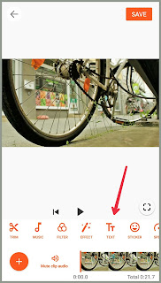 menambah teks video di aplikasi you cut