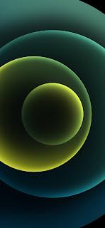 خلفية ايفون 12 الرسمية لون العشب